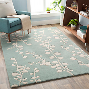 Home Accent Zellmer 5' x 8' Area Rug, Green, rollover