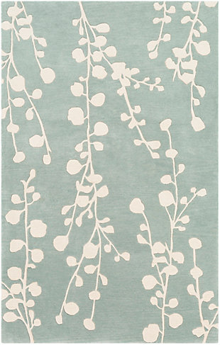 Home Accent Zellmer 5' x 8' Area Rug, Green, large