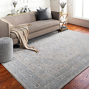 "Home Accent Denker 5' x 7'5"" Area Rug, Black/Gray, rollover"