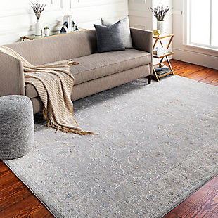 "Home Accent Duckett 5' x 7'5"" Area Rug, Black/Gray, rollover"