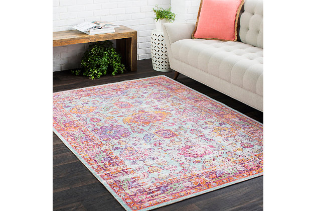 "Home Accents Antioch 5' 3"" x 7' 3"" Rug, Multi, large"