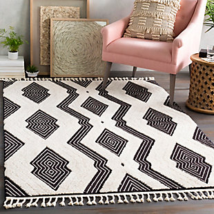 "Home Accent Sagucio 5'3"" x 7'3"" Area Rug, Black/Gray, rollover"