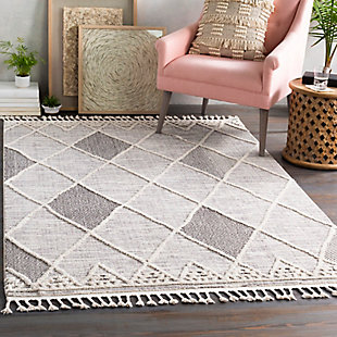 """Home Accent Harting 5'3"""" x 7'3"""" Area Rug, Black/Gray, rollover"""