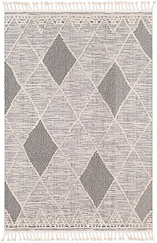 "Home Accent Harting 5'3"" x 7'3"" Area Rug, Black/Gray, large"