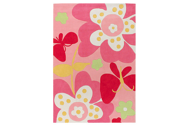 Home Accents Chic 3' x 5' Rug, Pink, large