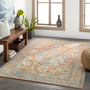 """Home Accent Spade 5'3"""" x 7'3"""" Area Rug, Brown/Beige, rollover"""