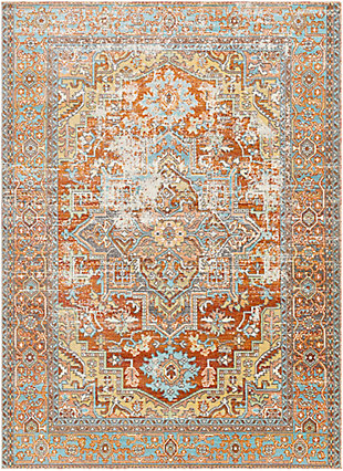 """Home Accent Spade 5'3"""" x 7'3"""" Area Rug, Brown/Beige, large"""