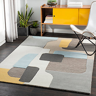 "Home Accent Carrow 5' x 7'6"" Area Rug, Yellow, rollover"