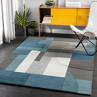"Home Accent Rankin 5' x 7'6"" Area Rug, Blue, rollover"