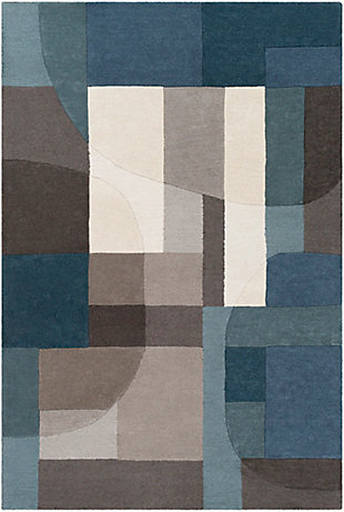 "Home Accent Rankin 5' x 7'6"" Area Rug, Blue, large"