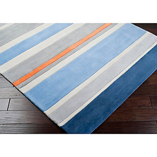 Home Accents Chic 3' x 5' Rug, Blue, large