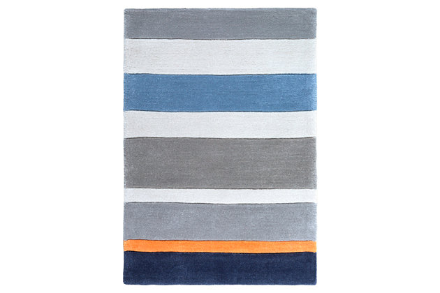 Home Accents Chic 2' x 3' Rug, Blue, large