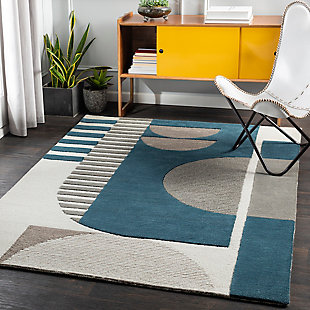 "Home Accent Wiemer 5' x 7'6"" Area Rug, Blue, rollover"