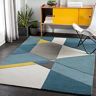 "Home Accent Mineo 5' x 7'6"" Area Rug, Yellow, rollover"