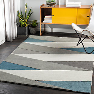 """Home Accent Stonefield 5' x 7'6"""" Area Rug, Blue, rollover"""