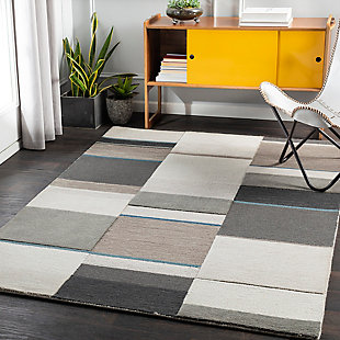 """Home Accent Beaudet 5' x 7'6"""" Area Rug, Blue, rollover"""
