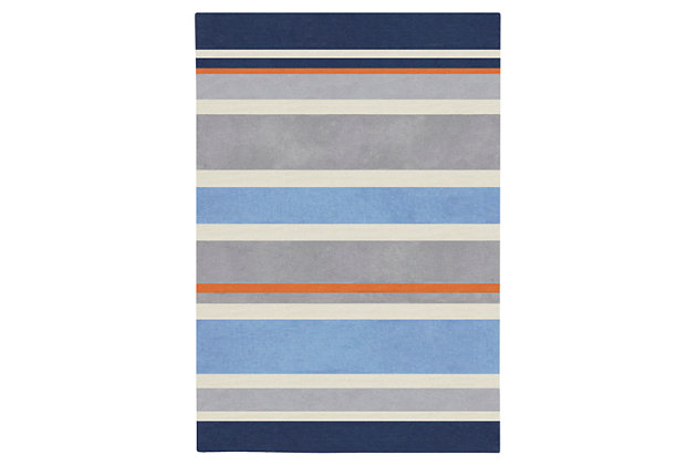 Home Accents Chic 6' x 9' Rug, Blue, large