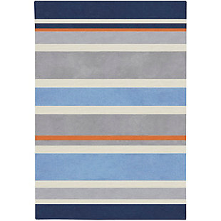 "Home Accents Chic 4'10"" x 7' Rug, Blue, large"