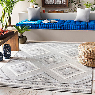 "Surya Big 5'3"" x 7'3"" Area Rug, Black/Gray, rollover"