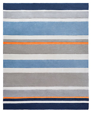 Home Accents Chic 8' x 10' Rug, Blue, large