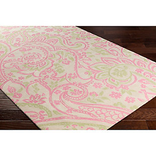 "Home Accents Lullaby 7'6"" x 9'6"" Rug, Pink/White/Green, rollover"