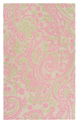 """Home Accents Lullaby 7'6"""" x 9'6"""" Rug, Pink/White/Green, large"""