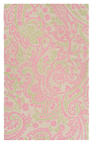"Home Accents Lullaby 7'6"" x 9'6"" Rug, Pink/White/Green, large"