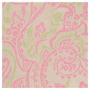 Home Accents Lullaby 3' x 5' Rug, Pink/White/Green, large