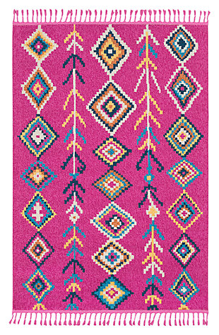 "Home Accents Love 3' 11"" x 5' 7"" Rug, Multi, large"