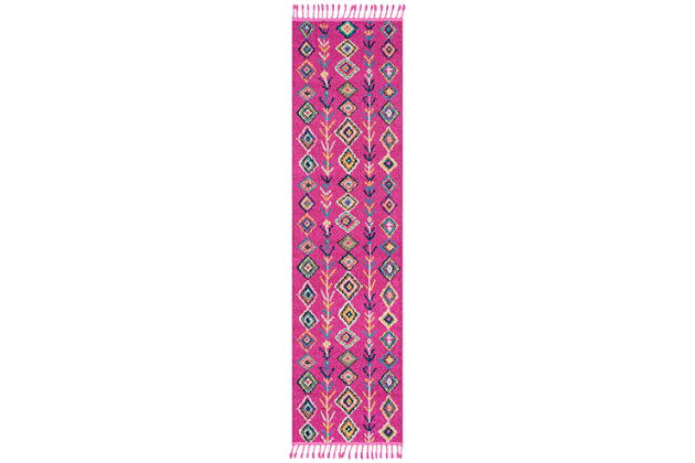"""Home Accents Love 2' 7"""" x 10' Runner, Multi, large"""