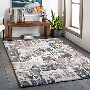 "Home Accent Wynne 5'3"" x 7'3"" Area Rug, Black/Gray, rollover"