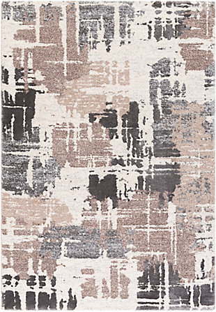 """Home Accent Wynne 5'3"""" x 7'3"""" Area Rug, Black/Gray, large"""