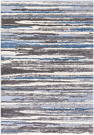 "Home Accent Tinsly 5'3"" x 7'3"" Area Rug, Black/Gray, large"
