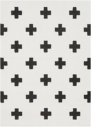 """Home Accents Moroccan Shag 7' 10"""" x 10' 3"""" Rug, Black/White, large"""