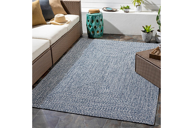 """Home Accent Russum 5' x 7'6"""" Area Rug, Blue, large"""