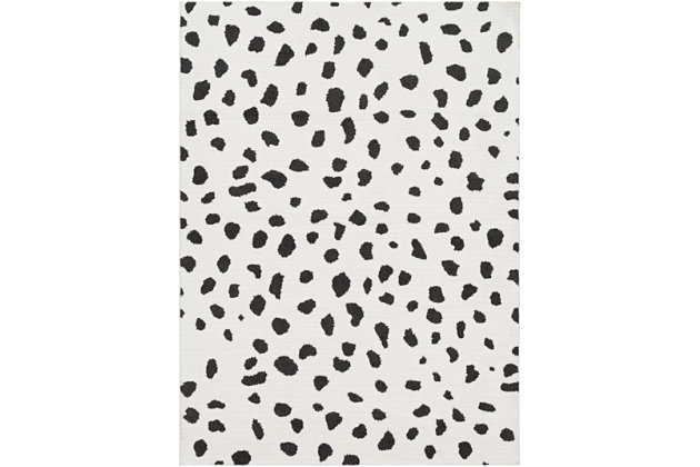 "Home Accents Moroccan Shag 5' 3"" x 7' 3"" Rug, Black/White, large"