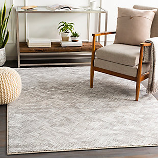 "Home Accent Prete 5'3"" x 7'7"" Area Rug, Black/Gray, rollover"