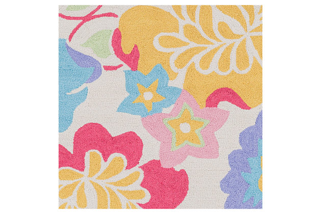 Home Accents Peek-A-Boo 2' x 3' Rug, Multi, large