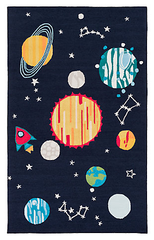 "Home Accents Peek-A-Boo 5' x 7'6"" Rug, Multi, large"