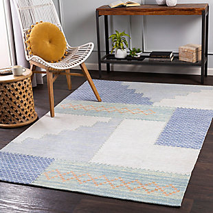 "Home Accent Rubino 5' x 7'6"" Area Rug, Blue, rollover"