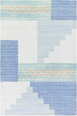 "Home Accent Rubino 5' x 7'6"" Area Rug, Blue, large"