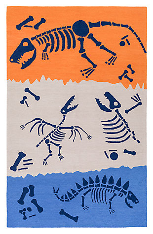 Home Accents Peek-A-Boo 3' x 5' Rug, Blue, large