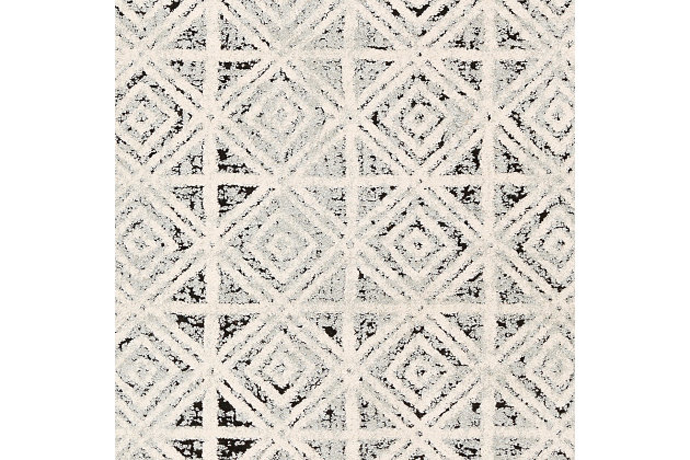 """Home Accent Macarthur 5'3"""" x 7'3"""" Area Rug, Black/Gray, large"""