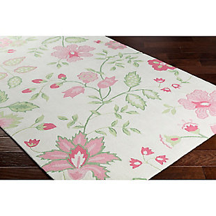 Home Accents Skidaddle 2' x 3' Rug, Pink/White/Green, rollover