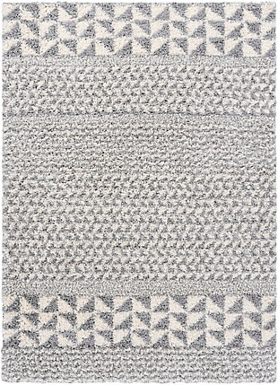 "Surya Deluxe 5'3"" x 7'3"" Area Rug, Black/Gray, large"