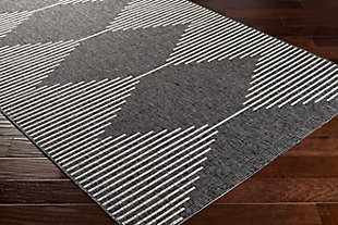 "Surya Eagean 5'3"" x 7'7"" Area Rug, Black/Gray, rollover"