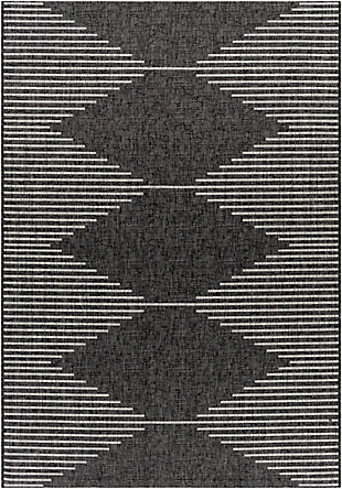 "Surya Eagean 5'3"" x 7'7"" Area Rug, Black/Gray, large"