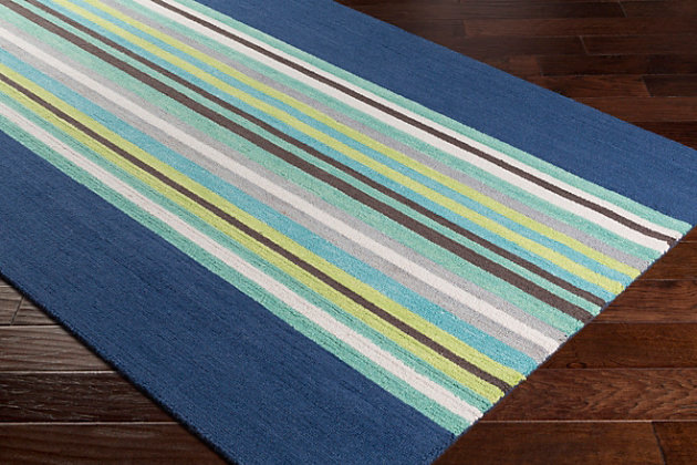 "Home Accents Technicolor 5' x 7' 6"" Rug, Blue, large"