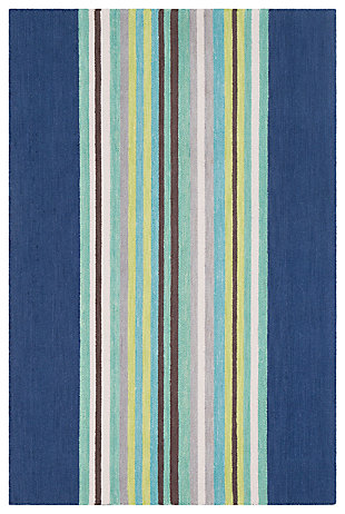 Home Accents Technicolor 2' x 3' Rug, Blue, large