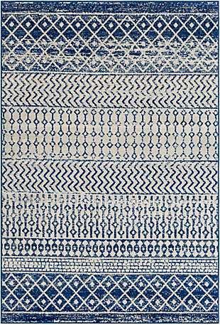 """Surya Elaziz 5'3"""" x 7'6"""" Area Rug, Blue, large"""